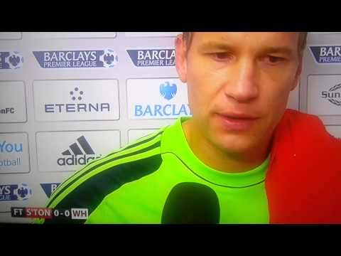 Southampton 0 - 0 West Ham interview MARK NOBLE & JUSSI JAASKELAINEN 15/9/2013