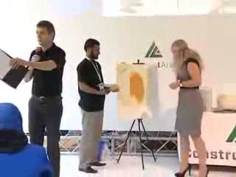 Декоративная штукатурка Silk Plaster - мастер-класс по нанесению на выставке BIG5, ОАЭ, Дубай 2012 - ОАЭ 2013