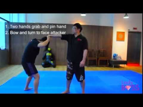 Ladies self defense - getting out of hair grabs for ladies