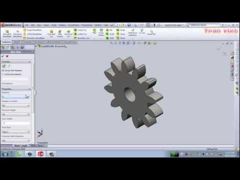 Hướng dẫn vẽ bánh răng trong thư viện trên SolidWorks - Bài 8
