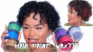 NEW HAIR COLOR + DEFINITION IN SECONDS! | Hair Paint Wax Review | Arnellarmon
