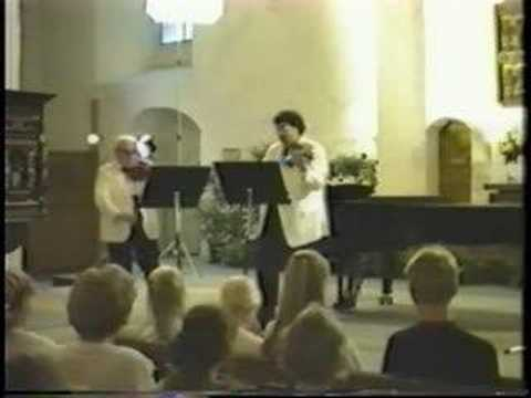 Isaac Stern & Mark Peskanov play Leclair (3 of 3)