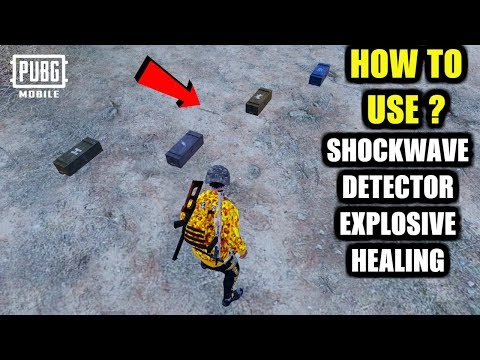 PUBG Mobile Zombie Mode New Update - How to USE ? Detector, Healing Wave, Explosive Ammo & ShockWave
