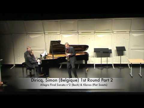 Diricq, Simon (Belgique) 1st Round Part 2