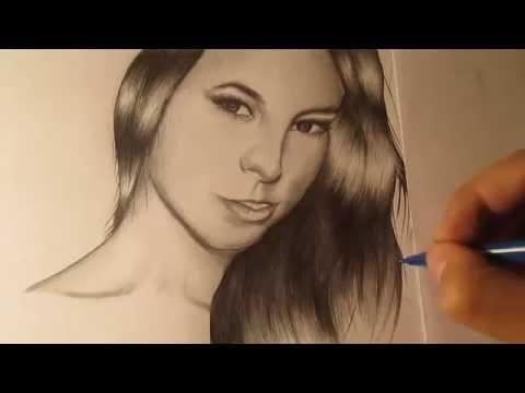 Cómo dibujar un rostro de mujer a lápiz paso a paso, aprender a dibujar, como dibujar rostros
