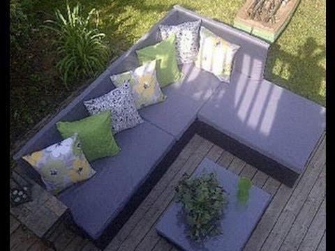Comment construire un canap de palette pour le jardin - Comment fabriquer un canape en palette ...