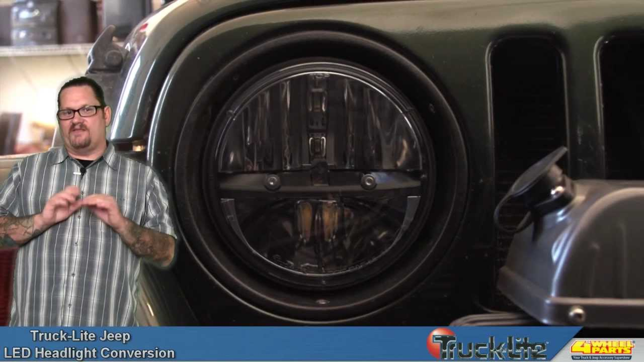 truck lite led headlight conversion for the jeep wrangler youtube. Cars Review. Best American Auto & Cars Review