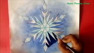 How To Draw Snowflake From Let It Go Song Of Elsa 'frozen