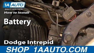 How To Install Replace A Battery Dodge Intrepid 98-04