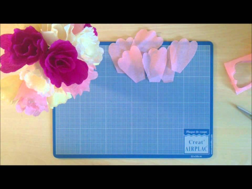 comment r aliser une fleur simple en papier cr pon youtube. Black Bedroom Furniture Sets. Home Design Ideas