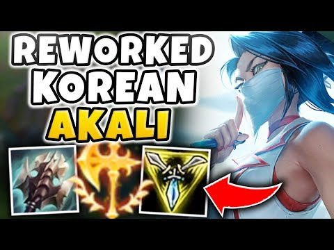 THE 100% PICK/BAN KOREAN AKALI IS BACK?! BEST NEW AKALI BUILD YET?!? - SEASON 8 AKALI REWORK
