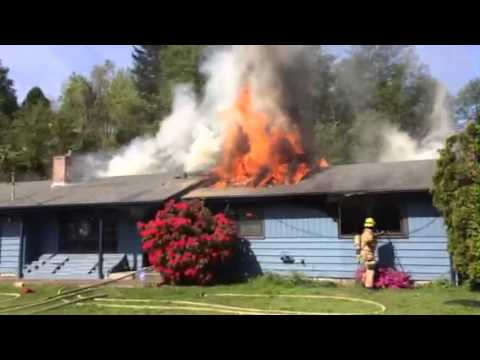 Raw video of house fire in Wash.