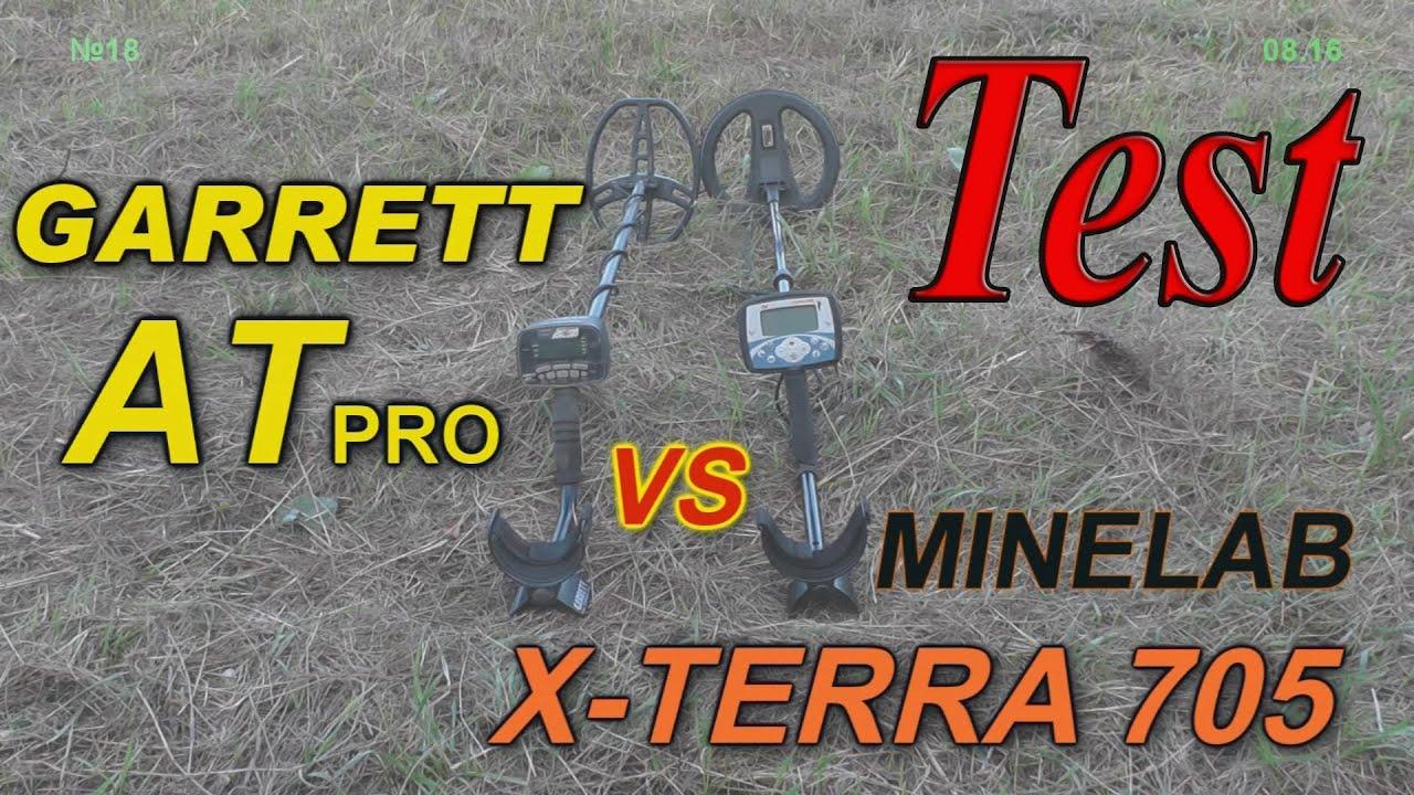 Minelab x-terra 705 vs garrett at pro.