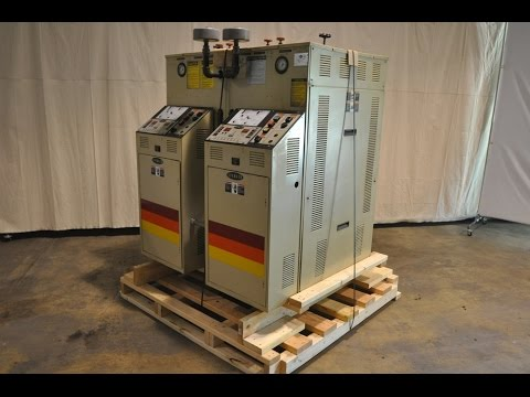 Used Sterlco 48 kW Dual (two) Zone Portable Hot Oil Process Heater Temperature Control Unit