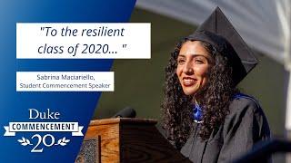 Sabrina Maciariello |og真人游戏2020毕业典礼学生演讲视频