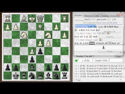 Blitz chess postmortem #253: Nimzo-Indian defense