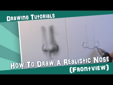 How To Draw a Realistic Nose || Frontview