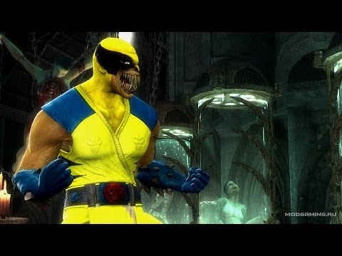 The Wolverine in Mortal Kombat 9 [Skin Mod]