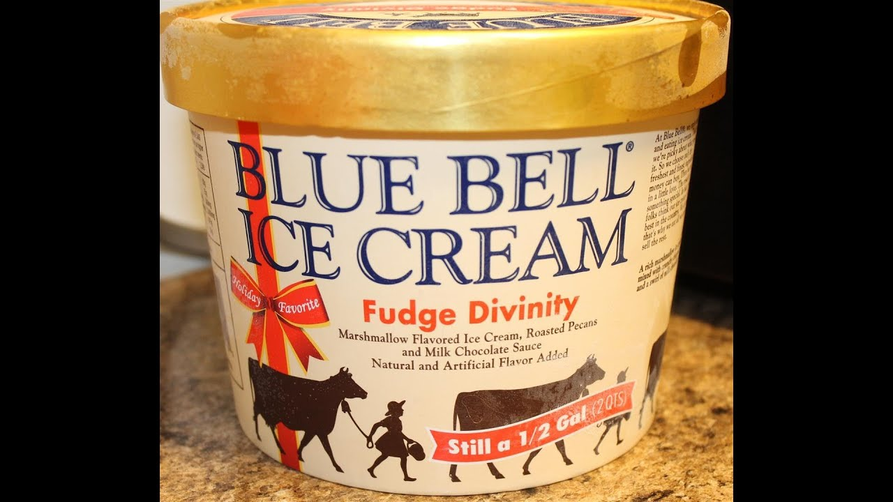 Blue bell fudge divinity ice cream review youtube for Christmas cookie ice cream blue bell