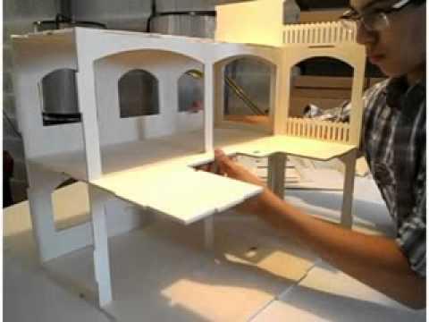 Construire une maison de poup e rosine minicrea youtube for Construire une maison en kapla