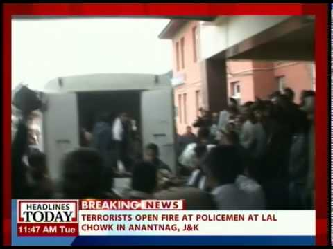 Terrorists open fire at Policemen in Anantnag; one officer critical