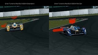 Gran Turismo Red Bull X2014 Std. & Fan Car Comparison Movie