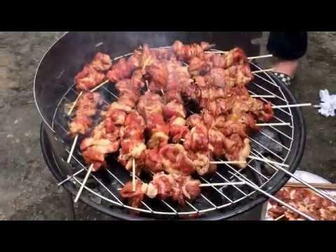 Cách làm thịt xiên nướng.