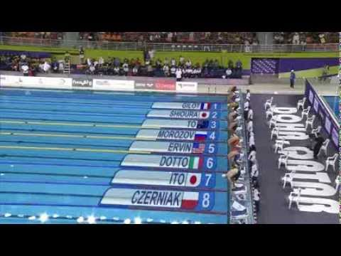 Men's 100m freestyle final FINA Swimming World Cup 2013 Doha