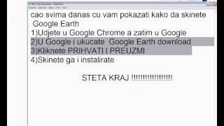 Kako Besplatno Skinuti Google Eath