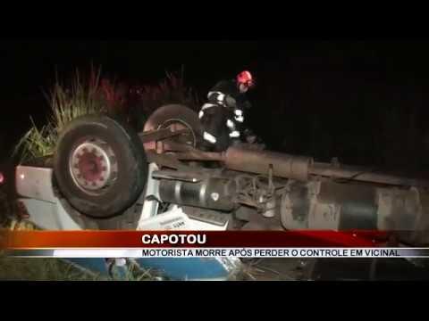 06/02/2018 - Motorista de 66 anos perde a vida em capotamento de caminhão carregado com laranjas em Monte Azul Paulista