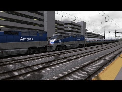 Train Simulator 2014 HD EXCLUSIVE: NJT Thanksgiving Extra 8842 With Amtrak EMD F59PHi and Amfleets