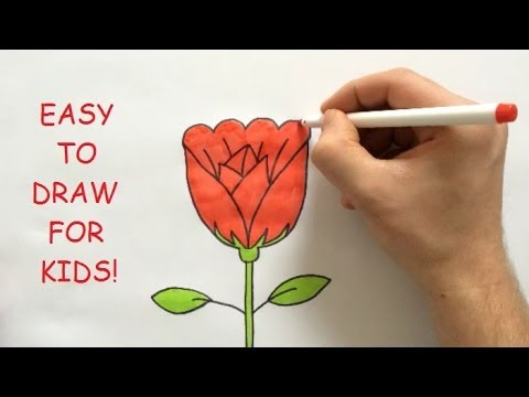 How to draw a rose step by step for kids youtube for How do you draw a rose step by step