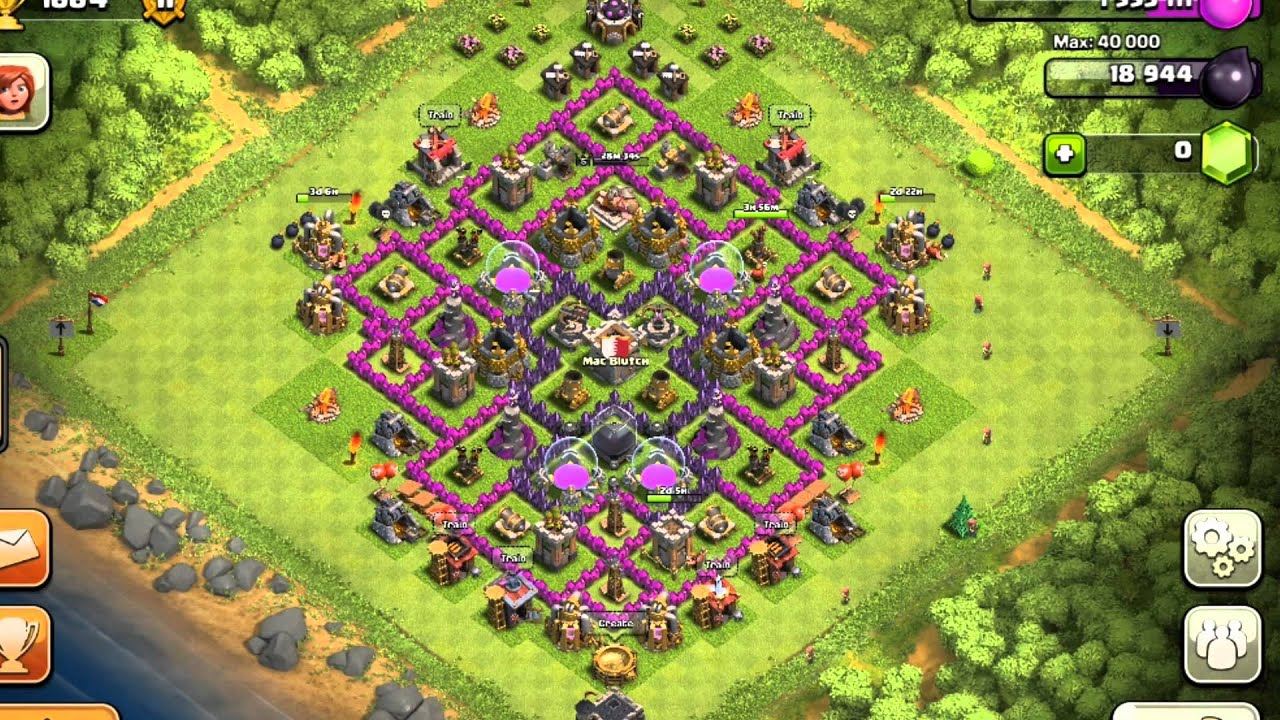 Clash of clans town hall 9 setup farming base youtube