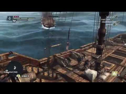 Assassin's Creed 4 Naval Free Roam and Combat gameplay