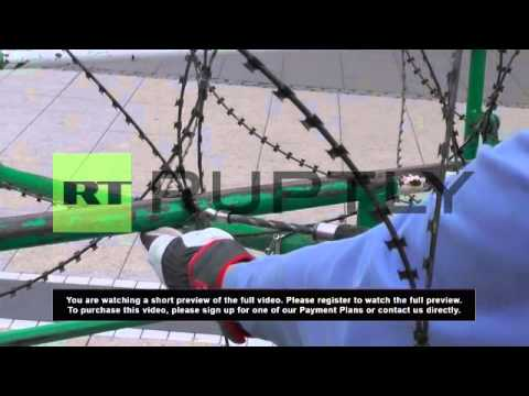 Germany: Police lay barbed wire in preparation for Blockupy protest