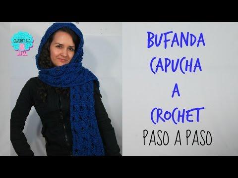 Tutorial Bufanda / Capucha a crochet en todas las tallas