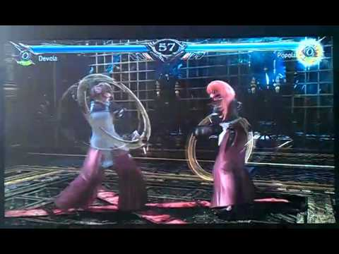 Soul Calibur 5 Devola(NieR) vs Popola(NieR