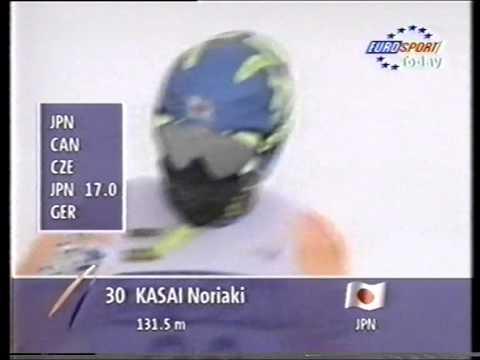 Noriaki Kasai - 131.5 m - Hakuba 1997
