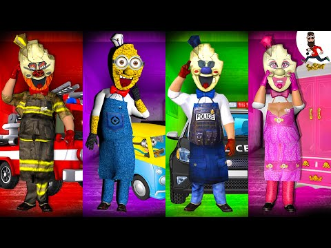 All the Mods of Ice Scream ► Rod is FireMan ► Funny moments in Ice Scream ► The evolution №7