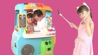 Đồ Chơi Xe Bán Thức Ăn Mini / Trò Chơi Bán Đồ Ăn Bé Peanut Bé Mango/ Food Truck Toy