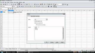 How To Make A Drop Down List In OpenOffice/LibreOffice