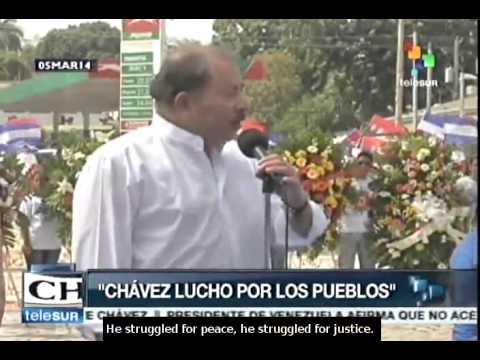Daniel Ortega pays tribute to Commander Hugo Chávez