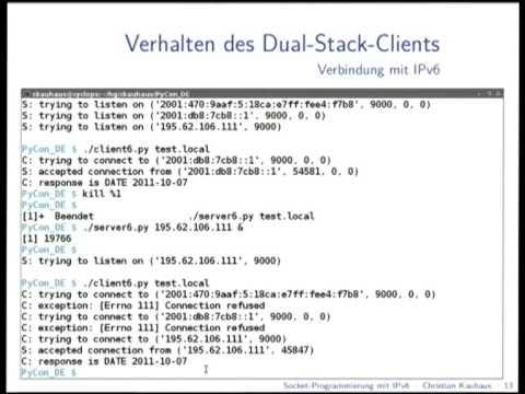 Image from IPv6-Socketprogrammierung mit Python