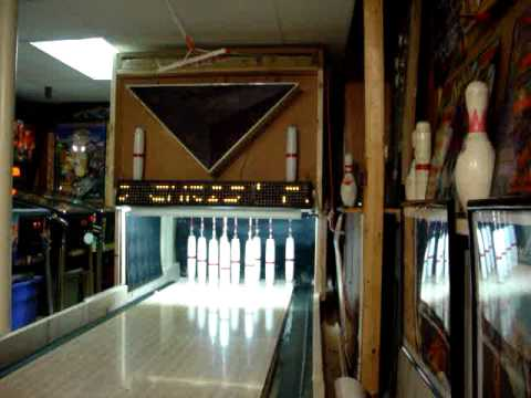 closeup of my basement game room candlepin bowling alley youtube