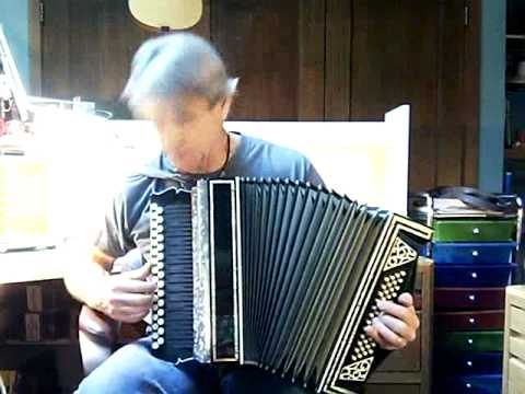 SOLD 2 row diatonic accordion for sale with stradella bass