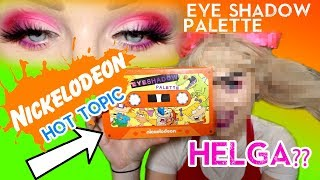90s NICKELODEON Eyeshadow Palette & Giving myself a UNIBROW?? Glam & Helga