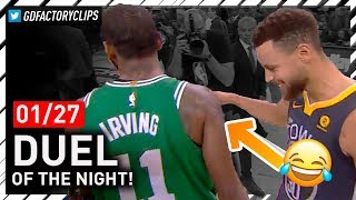 Stephen Curry vs Kyrie Irving EPIC PG Duel Highlights (2018.01.27) - Steph Got Left Hanging!