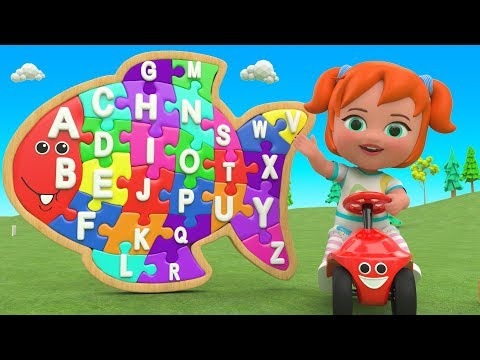 Color ABC Puzzle Wooden Toy Set 3D Kids | Little Baby Fun Learning Alphabets ABC Song for Children