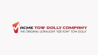 "Acme ""EZE-TOW"" Tow Dolly Car Tow Dolly Instructional"