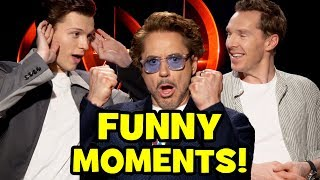 AVENGERS INFINITY WAR Funny Cast Interviews - Roasting Goats, Bloopers & Behind The Scenes Moments